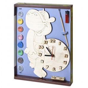 Бегемот Набор для росписи деревянных часов