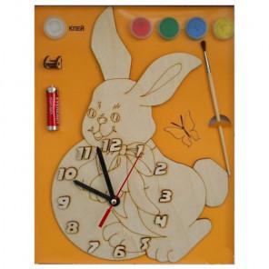 Зайка Набор для росписи деревянных часов