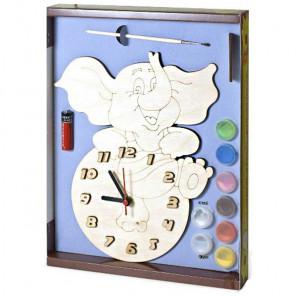 Слоник Набор для росписи деревянных часов