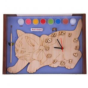 Кошка Набор для росписи деревянных часов ДНИ 116