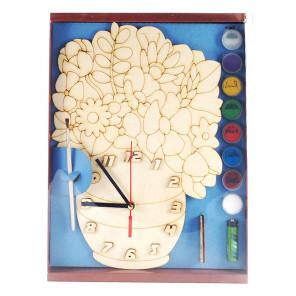 Цветы Набор для росписи деревянных часов ДНИ 7898