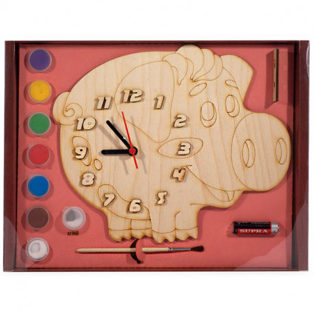 Поросёнок Набор для росписи деревянных часов