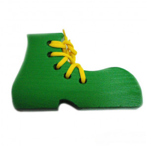 Крашеный ботинок Шнуровка деревянная 7754