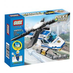Коробка Полицейский вертолет Конструктор 9308