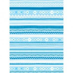 Полосочки голубые 597 Бумага для декопатча Decopatch