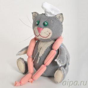 Кот-обжора Набор для создания игрушки своими руками