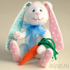 Зайка Морковкин Набор для создания игрушки своими руками