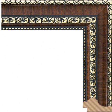 Donna (темно коричневый) Рамка багетная для картин на подрамнике и на картоне