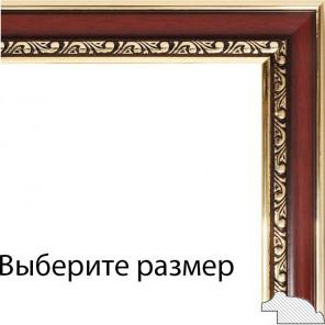 Выберите размер Аcademic Темно-коричневая Рамка багетная для картины на подрамнике и на картоне