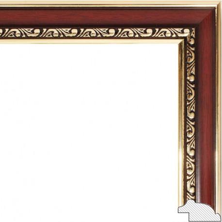Аcademic Темно-коричневая Рамка багетная для картины на подрамнике и на картоне