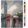 схема Непогода в Лондоне Раскраска по номерам на холсте Живопись по номерам