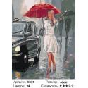 Количество цветов и сложность Девушка под дождем Раскраска по номерам на холсте Живопись по номерам RO89