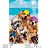 Количество цветов и сложность Щенки на море Раскраска по номерам на холсте Живопись по номерам A457