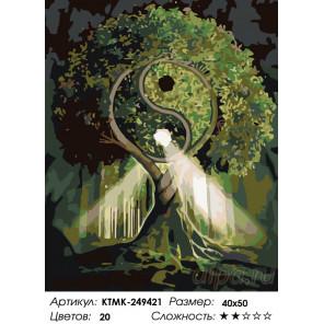 Количество цветов и сложность Гармония природы Раскраска по номерам на холсте Живопись по номерам KTMK-249421