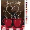 схема Кофе с любимым Раскраска по номерам на холсте Живопись по номерам