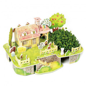 Веселый дом друзей 3D Пазлы Zilipoo M-011