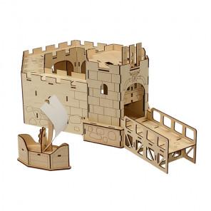 Королевский форт 3D Пазлы деревянные Woody WI-00747