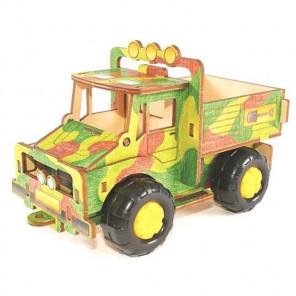 Грузовичок 3D Пазлы деревянные Woody WI-00617