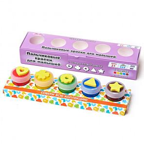 Первые краски Пальчиковые краски со штампиками Molly FP-03