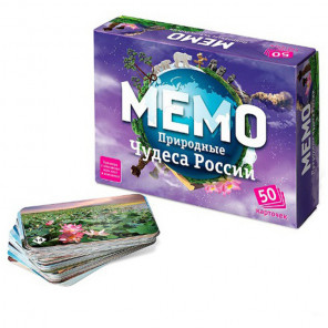 Природные чудеса России Настольная игра Мемо 7203