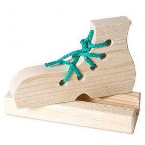 Ботинок на подставке Шнуровка деревянная 7731