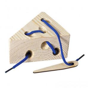 Ломтик сыра Шнуровка деревянная 7732