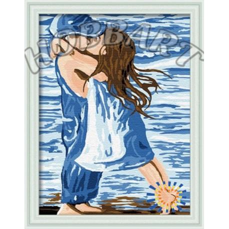 Первая любовь Раскраска картина по номерам акриловыми красками на холсте Hobbart