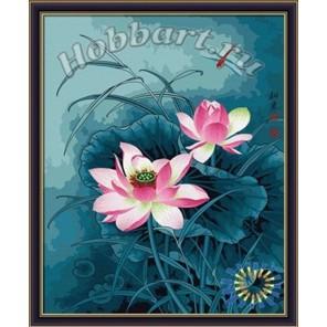 Цветок для стрекозы Раскраска картина по номерам акриловыми красками на холсте Hobbart