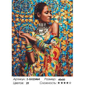 Количество цветов и сложность Принцесса Зимбабве Раскраска по номерам на холсте Z-GX23464