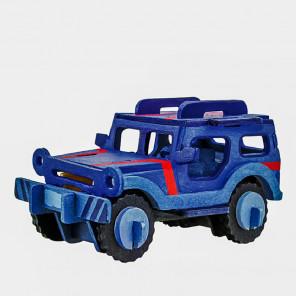 Джип 3D Пазлы деревянные с красками Robotime HC254