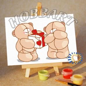 Подарок со смыслом Раскраска по номерам акриловыми красками на холсте Menglei