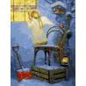 Ангелок у окна Раскраска картина по номерам на холсте ЕX6226