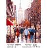 Количество цветов и сложность Осенняя улица в городе Раскраска картина по номерам на холсте GX26765