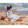 Девочка на побережье Раскраска картина по номерам на холсте GX26769