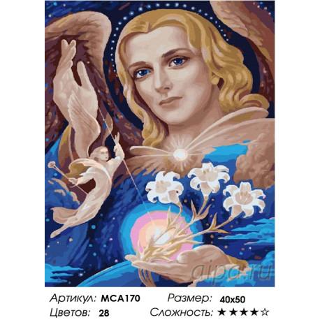 Количество цветов и сложность Архангел Гавриил Раскраска картина по номерам на холсте МСА170