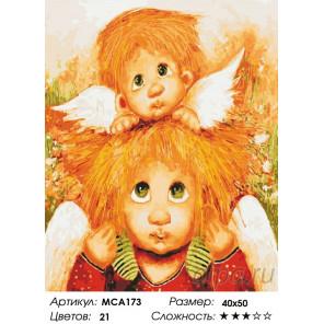 Количество цветов и сложность Ангелок на плечах Раскраска картина по номерам на холсте МСА173