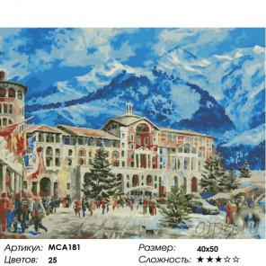 Количество цветов и сложность Красная поляна в Сочи Раскраска картина по номерам на холсте МСА181