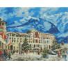Красная поляна в Сочи Раскраска картина по номерам на холсте МСА181