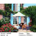 Цветущий садик Раскраска картина по номерам на холсте