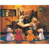 Сказки на ночь Раскраска картина по номерам на холсте МСА186