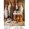 Количество цветов и сложность Пиво с рыбкой Раскраска картина по номерам на холсте МСА197