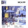 Домашний уют в зимний вечер Раскраска картина по номерам на холсте МСА199