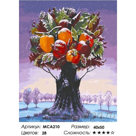 МСА210 Фантастическое дерево с фруктами Раскраска картина ...