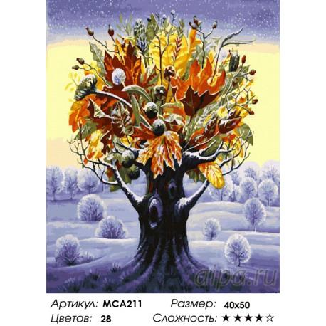 МСА211 Фантастическое дерево. Осень посреди зимы Раскраска ...