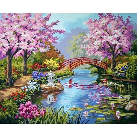 Японский сад 91415 Раскраска картина по номерам Dimensions