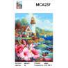 Характеристики Домик с садом у маяка Раскраска картина по номерам на холсте МСА237
