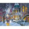 Тихий зимний вечер Раскраска картина по номерам на холсте МСА227