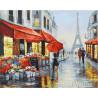 Влюбленные на улицах Парижа Раскраска картина по номерам на холсте МСА271