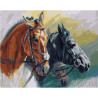 Грациозные лошади Раскраска картина по номерам на холсте МСА295