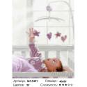 Малыш в кроватке Раскраска картина по номерам на холсте